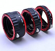 rojos automática de metal enfoque af tubo de extensión macro / anillo para Canon EOS 5d 5D2 ef-s lente