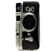 Retro-Kamera-Muster-TPU Säumen Telefonkasten für Galaxie S6 / S6 Rand