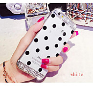 Candy Colors Crystal Diamond Soft TPU Polka Dot Phone Cellular Accessories Cover Case for iphone 6 Plus