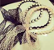 Z&X® Fabric Korean Style Lace Bowknot  Headbands Party/Casual 1pc