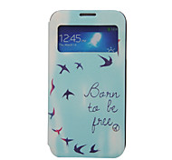 Asuka patroon window card case voor Samsung Galaxy S5 / s4