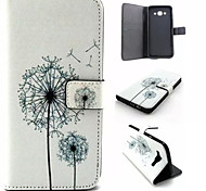 Dandelion Pattern PU Leather Phone Case For Samsung Galaxy A8