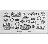 DIY Nail Art Stamp Stamping Image Template Plate/Nail Stencils Rattan Pattern