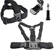 4 in 1 kit di accessori con fascia toracica, headstrap per GoPro eroe 4/3 + / 3/2/1 sj4000 / sj5000 / sj6000 / xiaomi yi