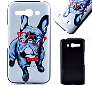 Glasses Dog Pattern Black Matte PC Material Phone Case for Alcatel C9/C7/C5