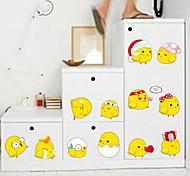adhesivos decorativos multifunción pvc bricolaje forma de pollo (12 pcs / set)