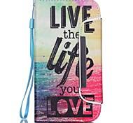 Leben Muster Zwei-in-one-PU Leder für Samsung-Galaxie s5 s4 s4mini