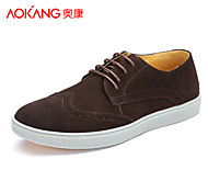 Aokang Men's Shoes Outdoor/Athletic/Casual Leather Fashion Sneakers Black/Blue/Brown