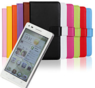 Wallet Style PU Leather Full Body Cover with Stand and Card Slot for Huawei Ascend G6 (Assorted Colors)