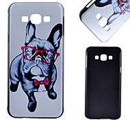 cão óculos padrão pc caso de telefone celular material para samsung galaxy a8