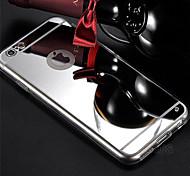 caso trasero suave espejo de cristal acrílico para iphone 6 más (colores surtidos)