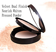 Red&Black Velvet Dual Finish Pressed Powder Nourish Whiten Fixing Makeup 12g