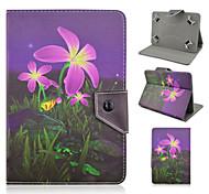 cuoio dell'unità di elaborazione floreale di alta qualità con il caso del basamento per 7 pollici tablet universale