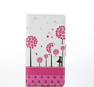 Dandelion Pattern PU Leather Painted Phone Case For Huawei P8