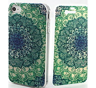 Datura Pattern TPU Soft Full Body Cover Case for iPhone 4/4S