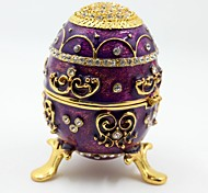 Faberge Egg Jewelry Box Trinket Box Wedding Gift Box(Purple)