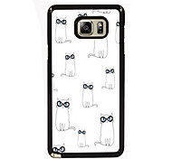 Lovely Cats Design Slim Metal Back Case for Samsung Galaxy Note 3/Note 4/Note 5/Note 5 edge