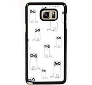 mooie katten ontwerpen slanke metalen achterkant van de behuizing voor Samsung Galaxy Note 3 / noot 4 / note 5 / note 5 rand