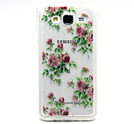 rosa Blume stieg Muster TPU Acryl weiche Tasche für Samsung Galaxy J1 / galaxy j5 / galaxy j7
