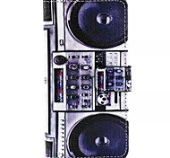 Tape Recorders Pattern PU Leather Phone Case For Huawei P8