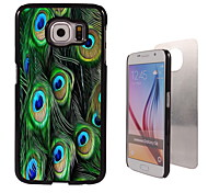 pauwenveren design aluminium hoge kwaliteit case voor de Samsung Galaxy s6