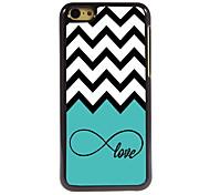 l'amour et le cas wave design en aluminium de haute qualité pour iPhone 5c