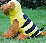 Yellow Small Bee Styles Clothes for Dog With Hat