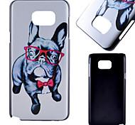 Gläser Hundemuster Peeling PC-Telefonkasten für Samsung Galaxy Note 5