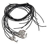 10PCS Black Leather Cord String Strap Thread Lobster Clasp