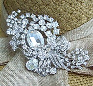 Wedding Accessories Silver-tone Clear Rhinestone Crystal Bridal Brooch Wedding Deco Flower Wedding Brooch Bridal Bouquet