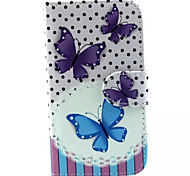 Butterfly Pattern PU Leather Phone Case for Samsung Galaxy J1