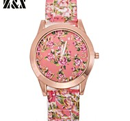 Women's Fashion  Simplicity  Quartz Analog Vintage  Printing Leather Wrist Watch(Assorted Colors)