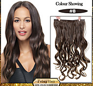 5 Clips Wavy Chestnut Brown (#8) Synthetic Hair Clip In Hair Extensions For Ladies more colors available