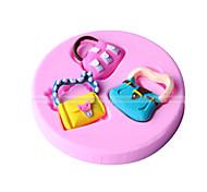 Figura dei sacchetti fondente della muffa della decorazione della torta della muffa
