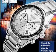 skmei® Herrenmode Chronograph 3 Zusatzskalen japanische Quarz-Edelstahl-