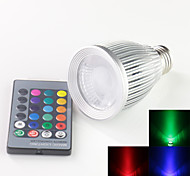 E27 10w RGB High Power LED Spot Lights Bulb Fog With 24 Keys IR Remote Controller (85V-265V)