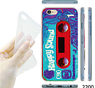MAYCARI®Happy Sound Tape Pattern TPU Soft Back Case for iPhone 6
