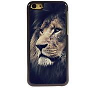 le cas triste design en aluminium du lion de haute qualité pour iPhone 5c