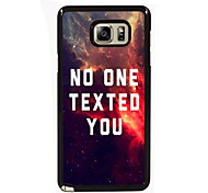 No One Texted You Design Slim Metal Back Case for Samsung Galaxy Note 3/Note 4/Note 5/Note 5 edge