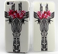 Deer Head Pattern TPU Full Body Case with  for iPhone 5C