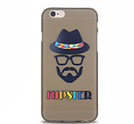 Fashion Old Man Pattern TPU Soft Case for iPhone 6 Plus