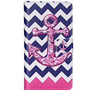 Anchors Pattern PU leather phone Case For Huawei P8 Lite