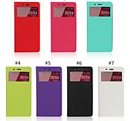 janela mais recente do caso da aleta estão abertas na direita pu celular ultrafino shell telefone para Xiaomi 4 / hongmi nota cores
