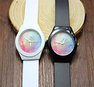Frauen magische Farbe transparent Plastikuhr