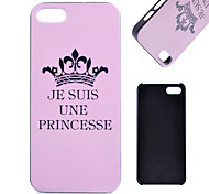 Imperial Crown Pattern PC Material Cell Phone Case for iPhone 5C