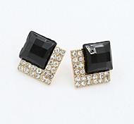 Earring Stud Earrings / Drop Earrings Jewelry Women Alloy / Cubic Zirconia / Platinum Plated 1set Gold