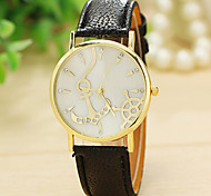 ancorar relógio relogio mulheres Feminino assistir pulseira de couro relógios de quartzo relógio relogio masculino