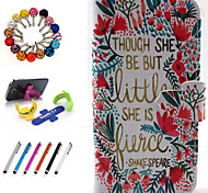 PU Leather Coloured Drawing Or Pattern Holster Package Includes Stand Anti-Dust Plug Stylus for iPhone 5/5S