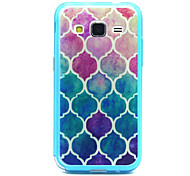 Baby Blue Diamond Pattern TPU Acrylic Soft Case for Samsung Galaxy Core Prime G360/ Galaxy Grand Prime G530