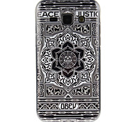 Large Black Flower Design TPU IMD Soft Cover for Samsung Galaxy J1/J5/J7